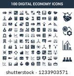 100 digital economy universal... | Shutterstock .eps vector #1233903571