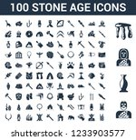 100 stone age universal icons... | Shutterstock .eps vector #1233903577