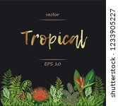 tropical card. exotic... | Shutterstock .eps vector #1233905227