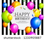happy birthday greeting card.... | Shutterstock .eps vector #1233905887