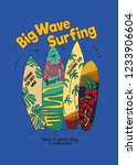 surf board and design print | Shutterstock .eps vector #1233906604