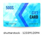 gift card   bright design with... | Shutterstock .eps vector #1233912094