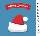 santa hat with shadow and... | Shutterstock .eps vector #1233912517