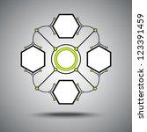four connected hexagonal cell.... | Shutterstock .eps vector #123391459