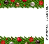 christmas garland isolated... | Shutterstock .eps vector #1233915874