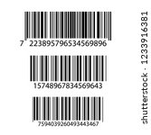 realistic bar code icon. a... | Shutterstock .eps vector #1233916381