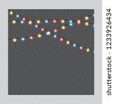 christmas lights isolated... | Shutterstock .eps vector #1233926434