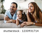 happy family having fun time at ... | Shutterstock . vector #1233931714