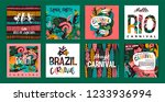 brazil carnival. vector... | Shutterstock .eps vector #1233936994