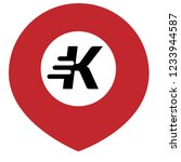 letter k and map pin. logo... | Shutterstock .eps vector #1233944587