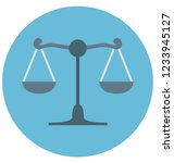 justice scale color isolated... | Shutterstock .eps vector #1233945127