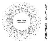 halftone circular dotted frame....   Shutterstock .eps vector #1233949324