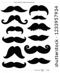set of mustaches  props for...   Shutterstock . vector #1233957934