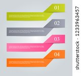 infographic design template.... | Shutterstock .eps vector #1233963457