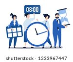 characters of people holding... | Shutterstock .eps vector #1233967447