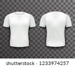 t shirt template front back... | Shutterstock . vector #1233974257