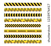 yellow and black caution tapes  ... | Shutterstock . vector #1233976417