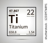 titanium chemical element with... | Shutterstock . vector #1233976891