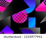 memphis seamless pattern....   Shutterstock .eps vector #1233977941