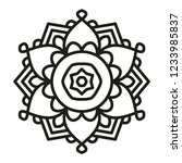 simple mandala shape for... | Shutterstock .eps vector #1233985837