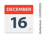 december 16   calendar icon  ... | Shutterstock .eps vector #1233994201