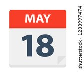 may 18   calendar icon   vector ... | Shutterstock .eps vector #1233997474