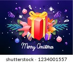 christmas decorative banner... | Shutterstock .eps vector #1234001557