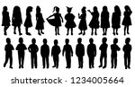 isolated kids  child silhouette ... | Shutterstock .eps vector #1234005664