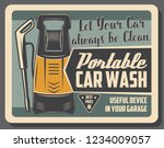portable car wash device to... | Shutterstock .eps vector #1234009057