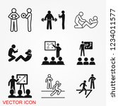 coach icon  banner coaching... | Shutterstock .eps vector #1234011577