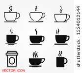 coffee cup icon. coffee drink...   Shutterstock .eps vector #1234012144