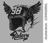 motorcycle rider helmet  t... | Shutterstock .eps vector #1234020001