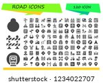 vector icons pack of 120 filled ... | Shutterstock .eps vector #1234022707