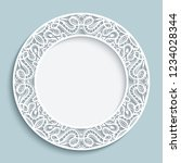 decorative empty plate with... | Shutterstock .eps vector #1234028344