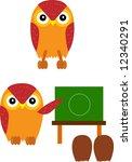vector illustration for owl and ... | Shutterstock .eps vector #12340291