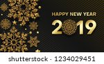 happy new year 2019 card or... | Shutterstock .eps vector #1234029451