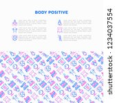 body positive concept with thin ... | Shutterstock .eps vector #1234037554