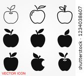 apple icon in trendy flat style ... | Shutterstock .eps vector #1234038607