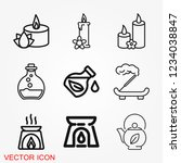 aromatherapy icon  accessory... | Shutterstock .eps vector #1234038847