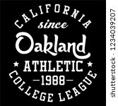 graphic oakland for shirt and... | Shutterstock .eps vector #1234039207