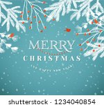 merry christmas paper cut... | Shutterstock .eps vector #1234040854