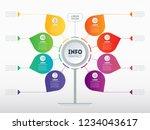 business presentation or... | Shutterstock .eps vector #1234043617