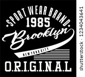 graphic brooklyn for shirt and... | Shutterstock .eps vector #1234043641