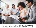 business people meeting... | Shutterstock . vector #1234047571