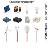 solar and wind energy... | Shutterstock .eps vector #1234047904