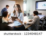group of successful business... | Shutterstock . vector #1234048147