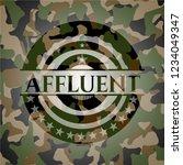 affluent on camo pattern | Shutterstock .eps vector #1234049347