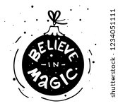 believe in magic modern...   Shutterstock .eps vector #1234051111