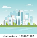 vector illustration of modern... | Shutterstock .eps vector #1234051987