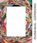 crossing wavy stripes... | Shutterstock .eps vector #1234062064
